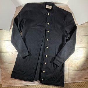 St John Vintage Long Knit Black Cardigan